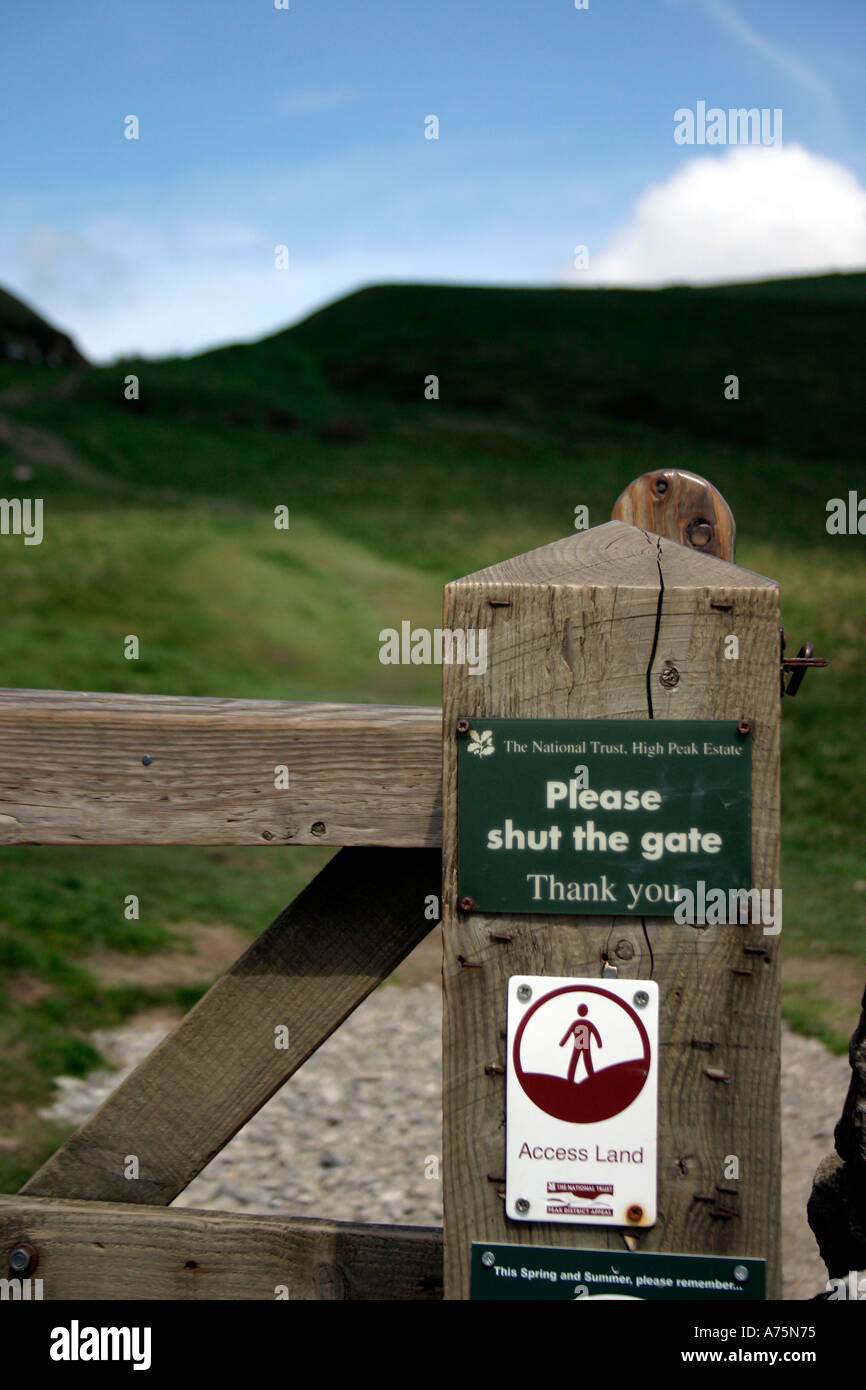 Access Land Notices Countryside and Rights of Way Act 2000 - Stock Image