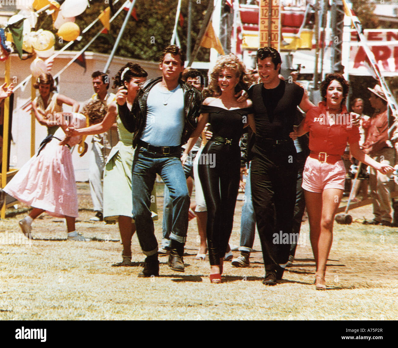Grease 1978 Paramount Film With From L Jeff Conaway Olivia Stock Photo Alamy