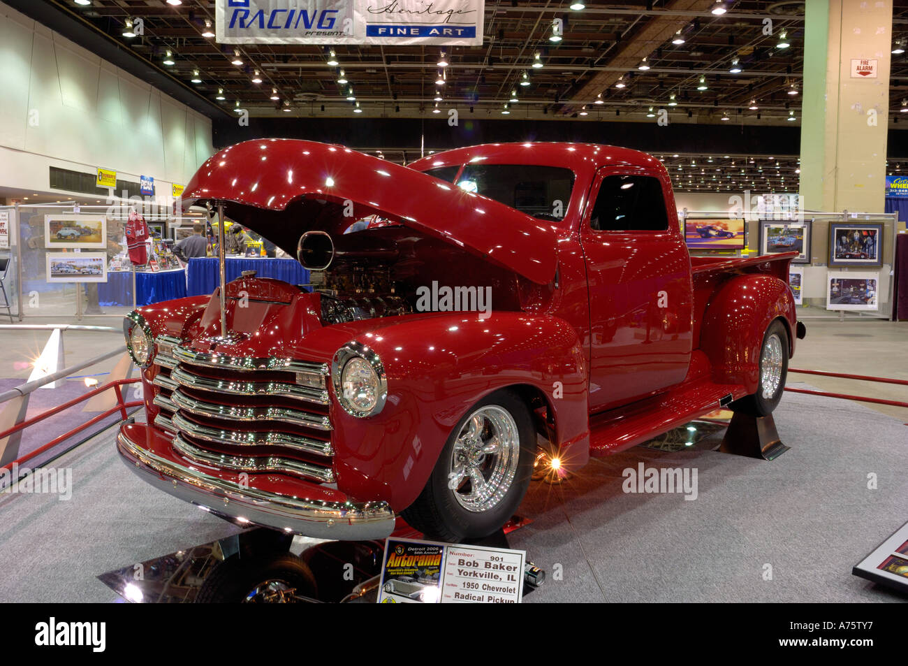 Modified Pickup Truck Stock Photos 1949 Chevy Hot Rod 1950 Chevrolet At The 2006 Detroit Autorama Image