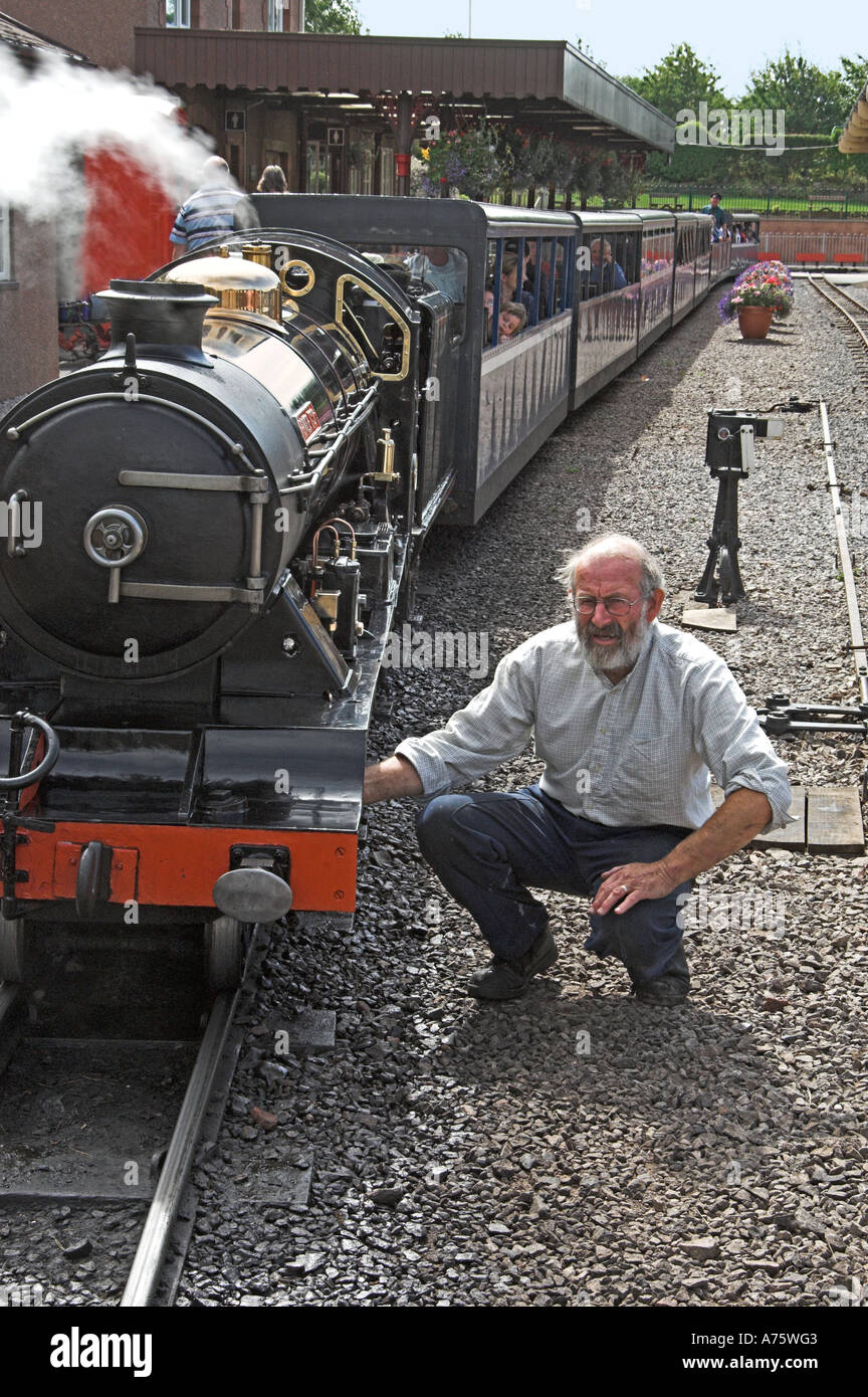 River Esk-2-8-2 locomotive, designed by Henry Greenly and built in 1923 by Davy Paxman of Colchester. Stock Photo