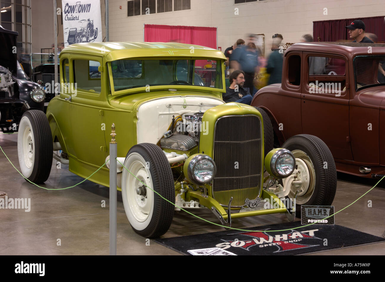Green Ford Hot Rod Stock Photos & Green Ford Hot Rod Stock Images ...