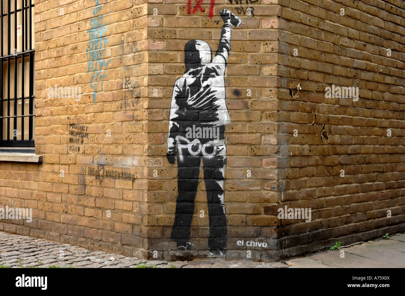 El Chive Graffiti Artist Banksy Style