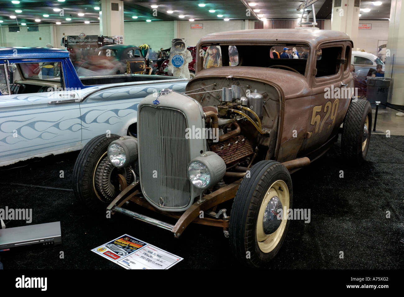 1932 Ford Five Window Coupe traditional hot rod at the Detroit Stock ...