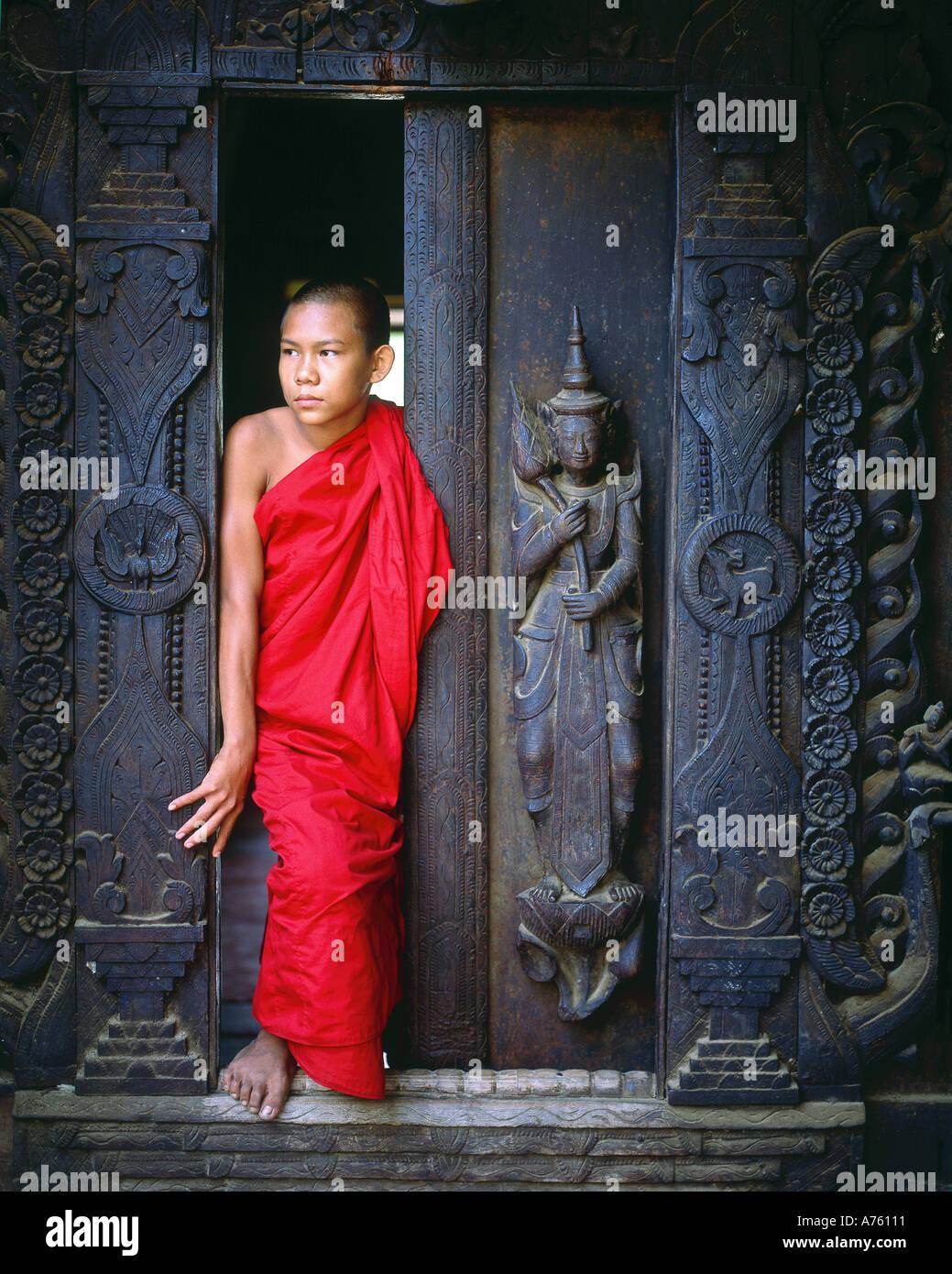 Buddhist monk, Mandalay, Myanmar  (Burma) - Stock Image