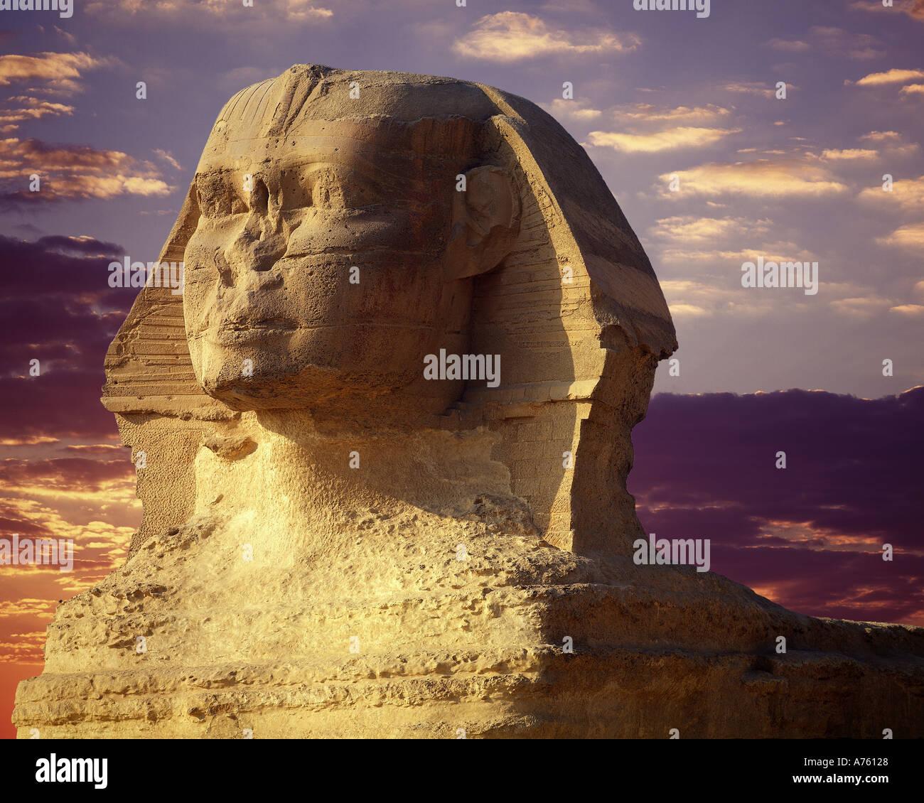 The Sphinx, Giza, Egypt - Stock Image