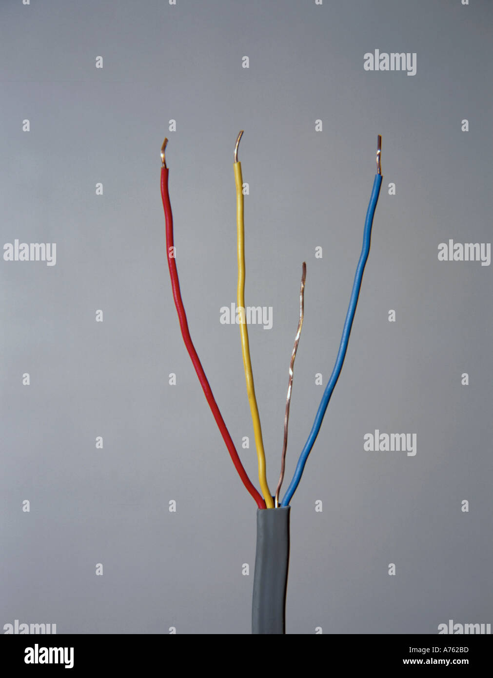 Four core copper cable, to permit two way switching of lighting ...