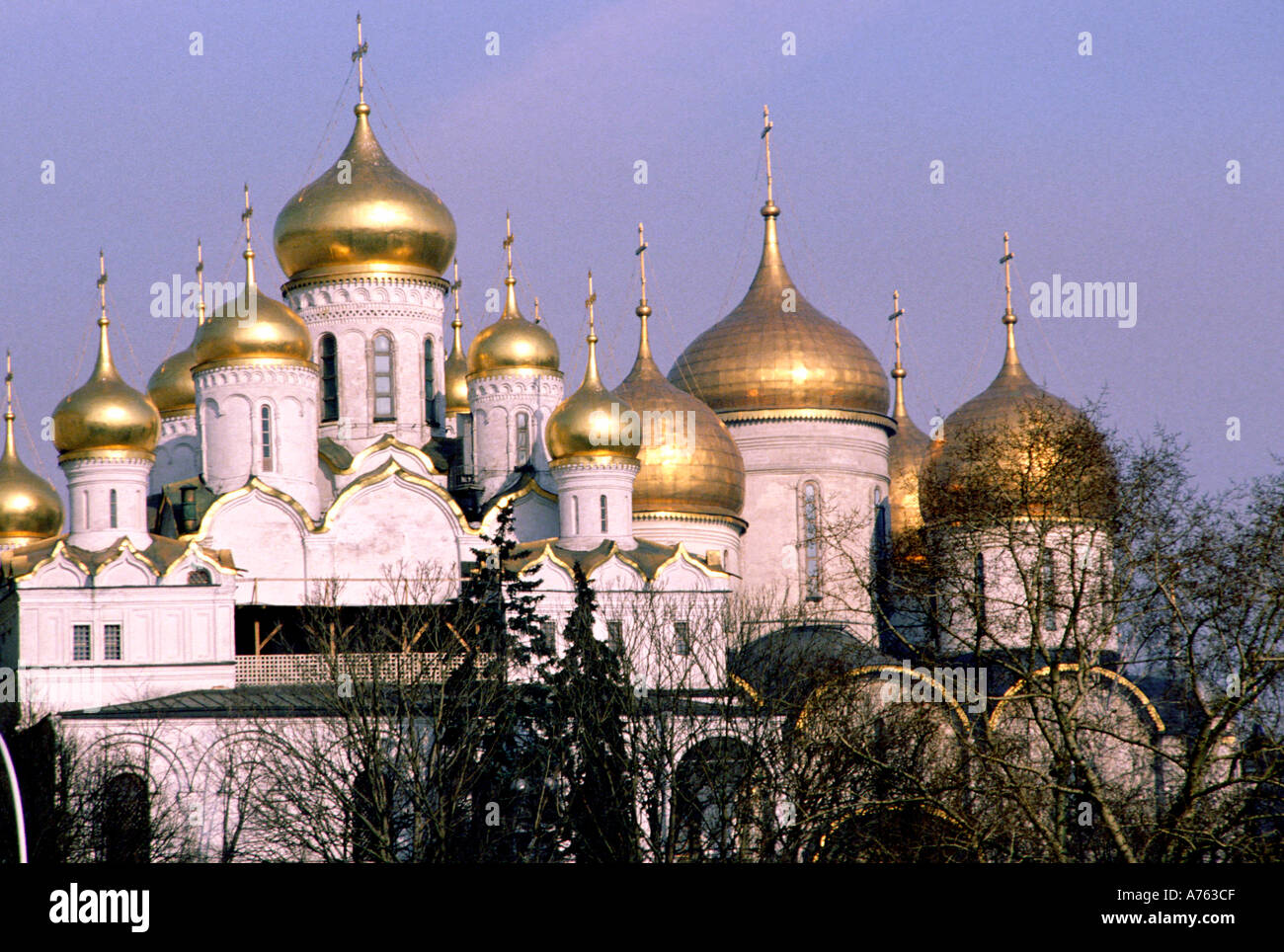 Moscow from across the river - Stock Image