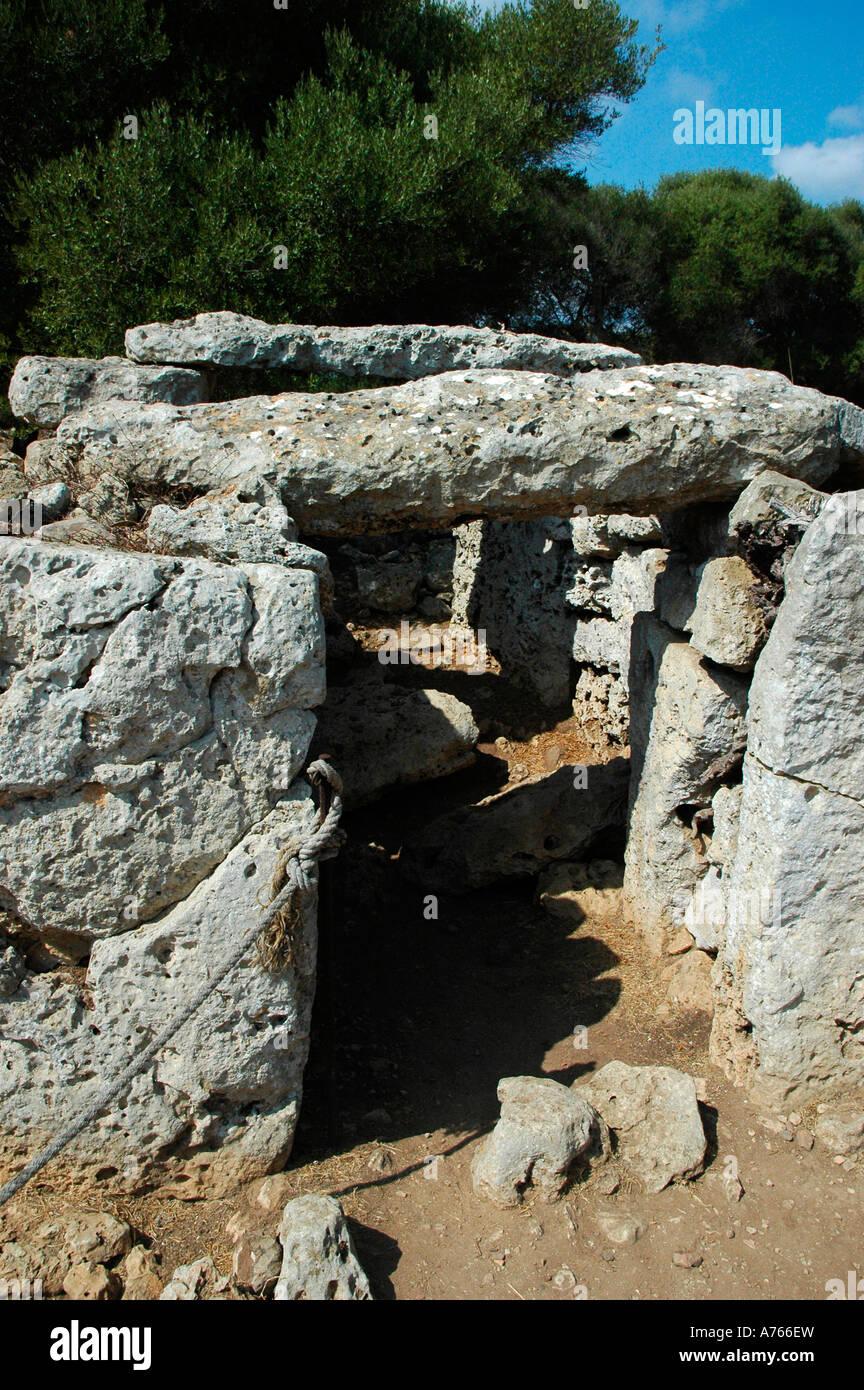 Crypt in Talati de Dalt site MENORCA Balearic Islands Spain - Stock Image