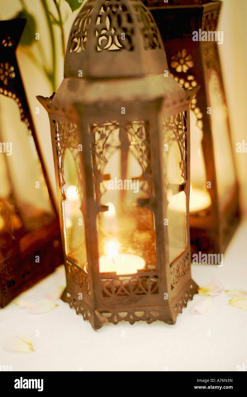 Arabian hand lamps, close-up - Stock Image
