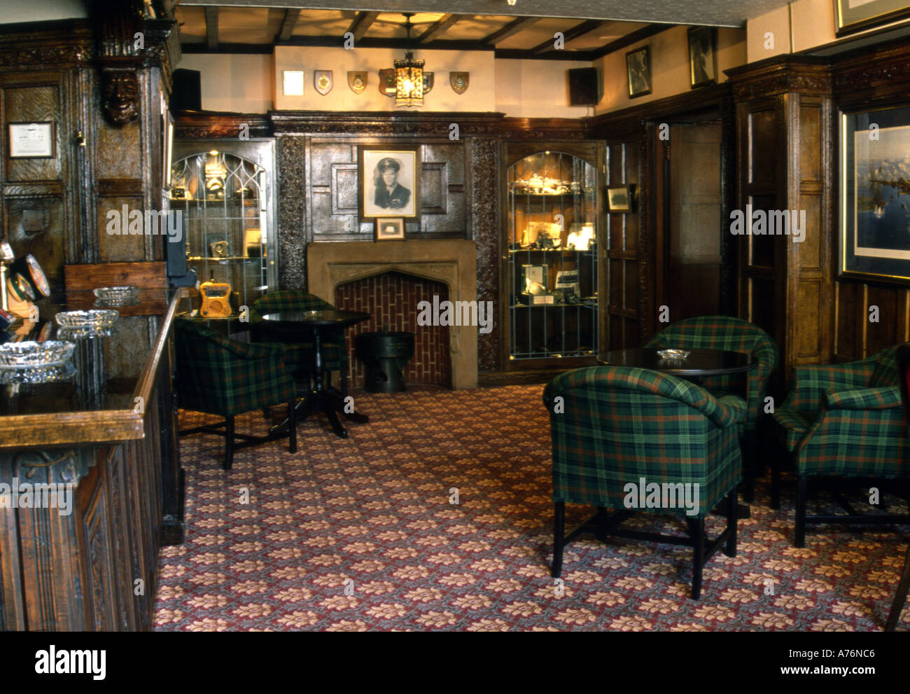 The 617 Dambuster Squadron Bar In Petwood Hotel Woodhall Spa Lincolnshire England