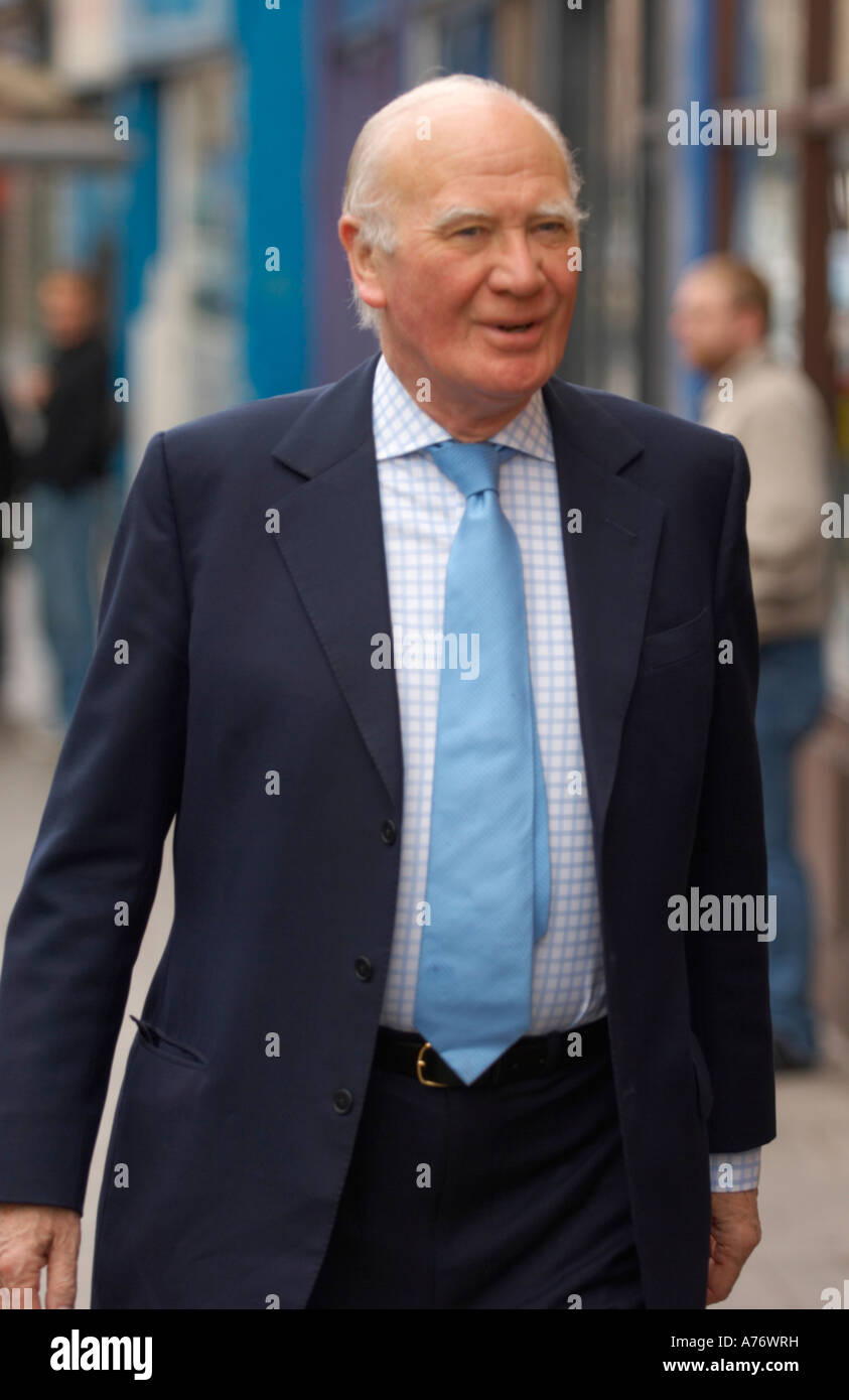 Sir Menzies Campbell MP in Dunfermline Scotland - Stock Image