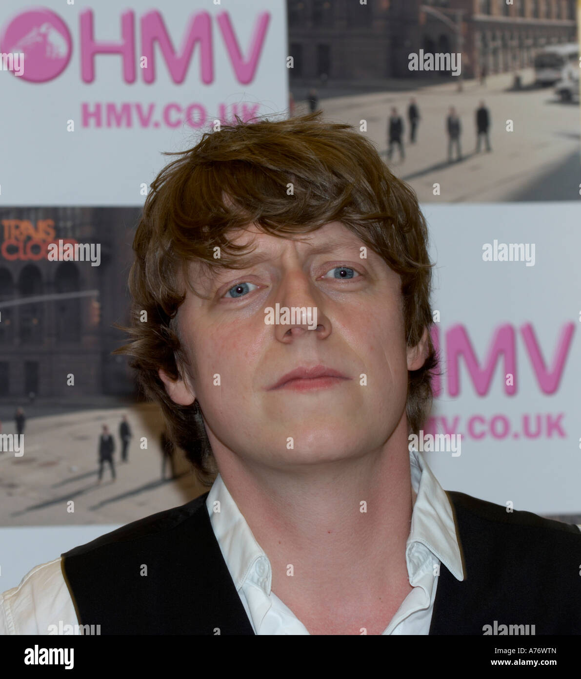 Dougie Payne from Scottish indie rock  band Travis - Stock Image