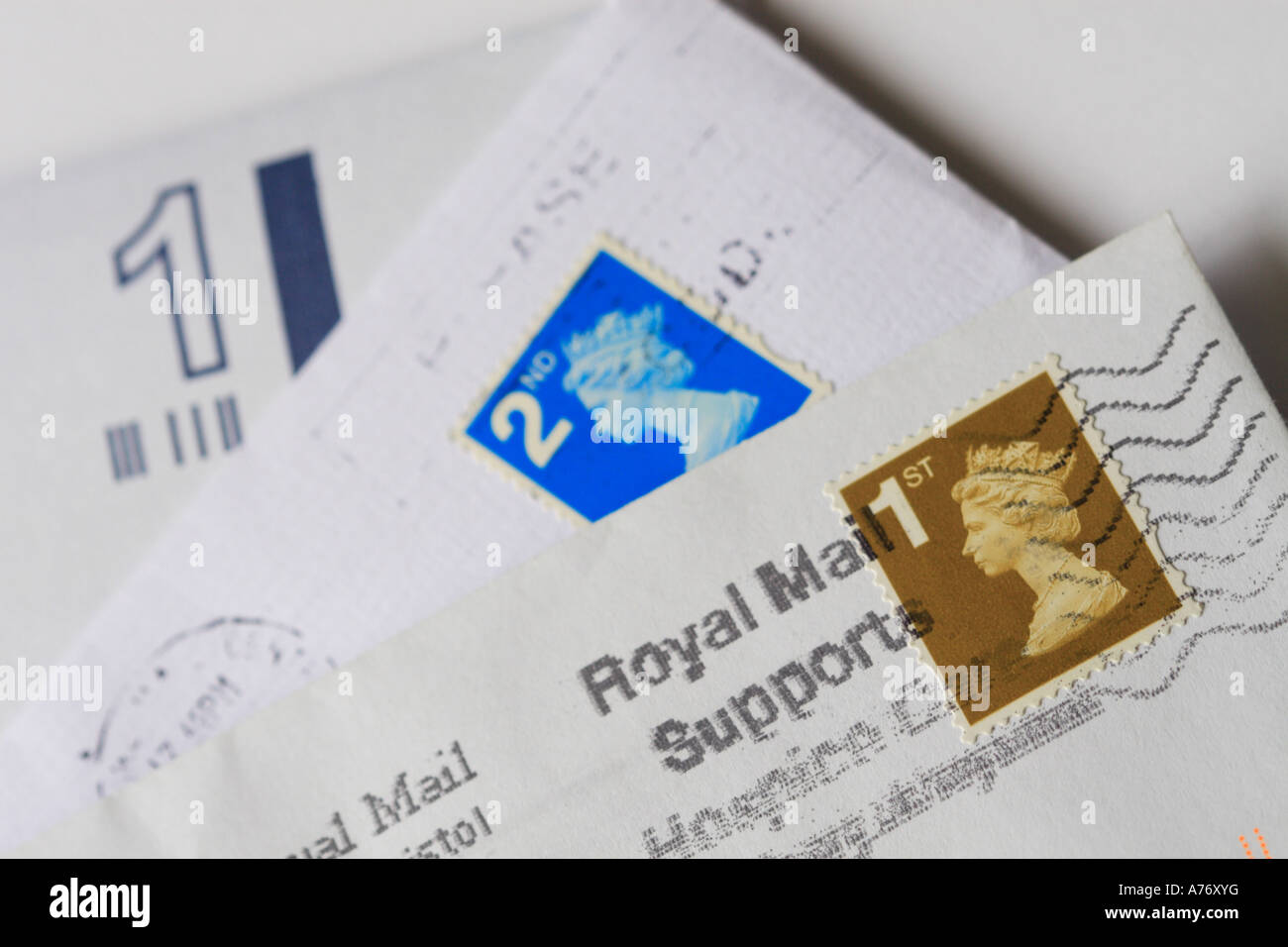 Royal Mail letters and stamps Stock Photo: 11743971   Alamy