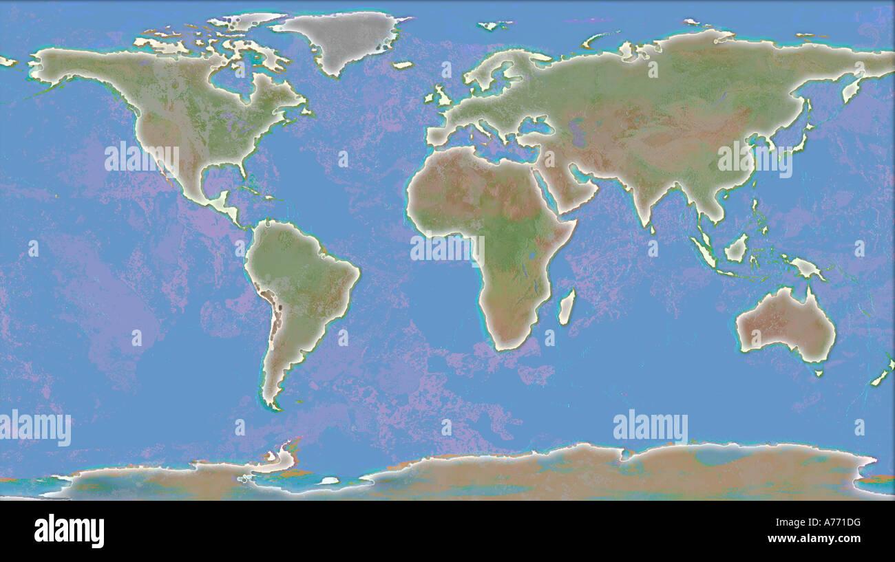 World Map Illustration   Stock Image