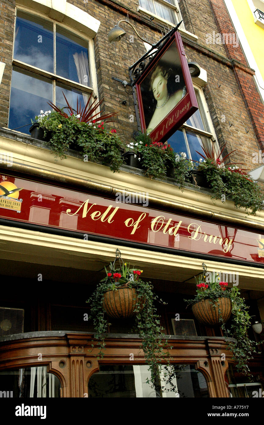 Nell of old Drury- A pub in Covent garden London England - Stock Image