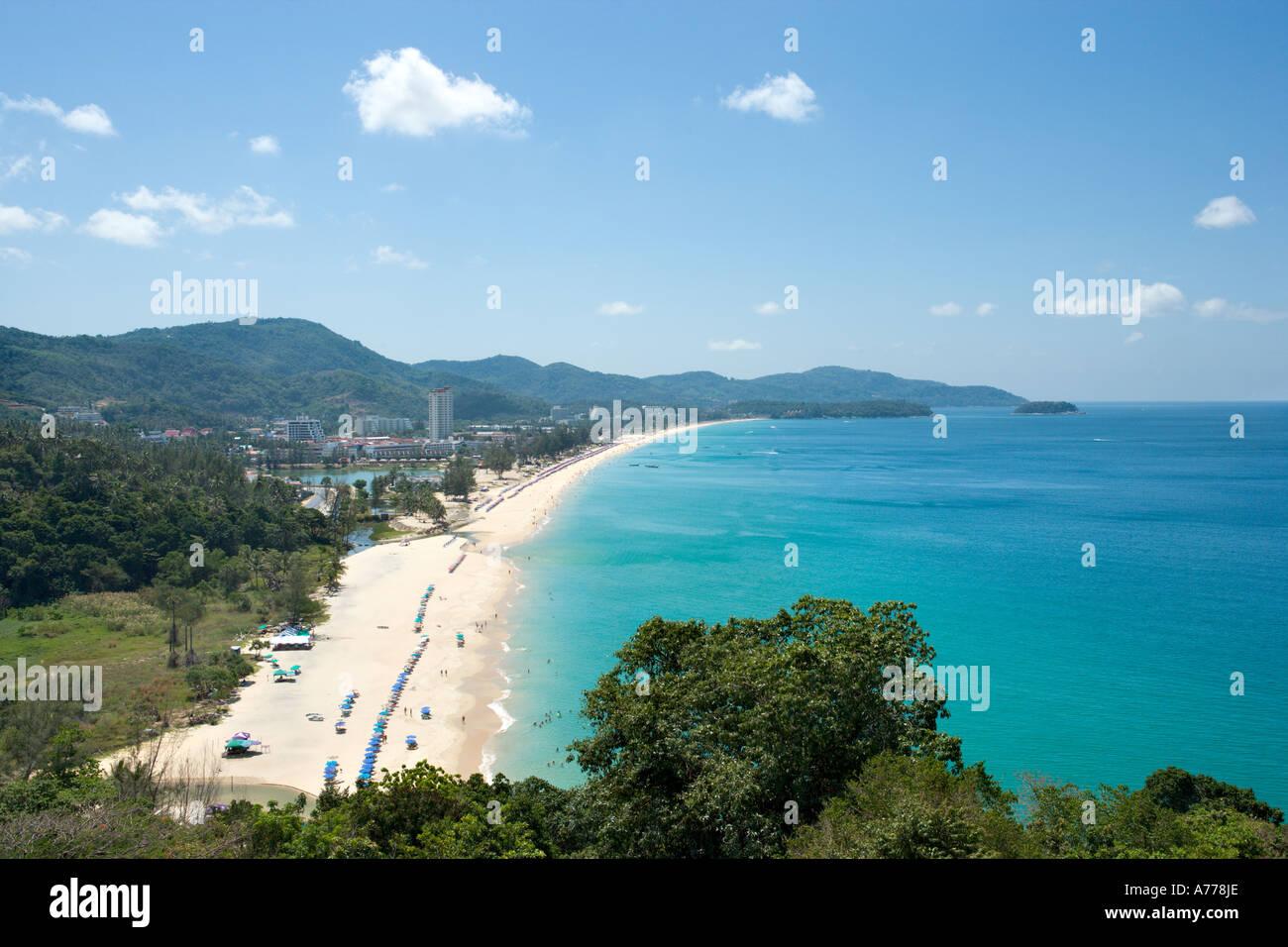 View over Karon Beach, Phuket, Thailand - Stock Image