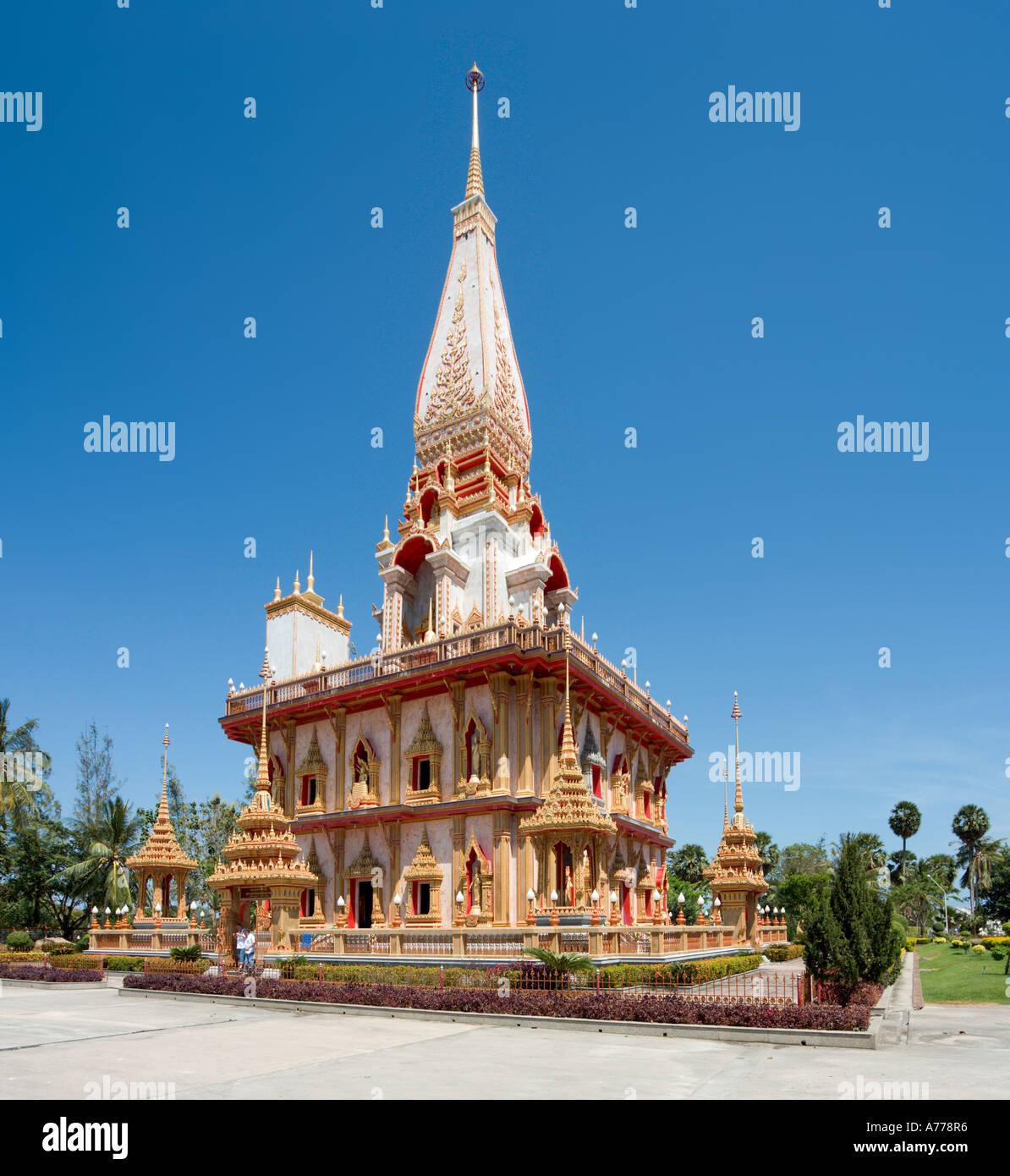 Wat Chalong Buddhist Temple, Phuket, Thailand Stock Photo