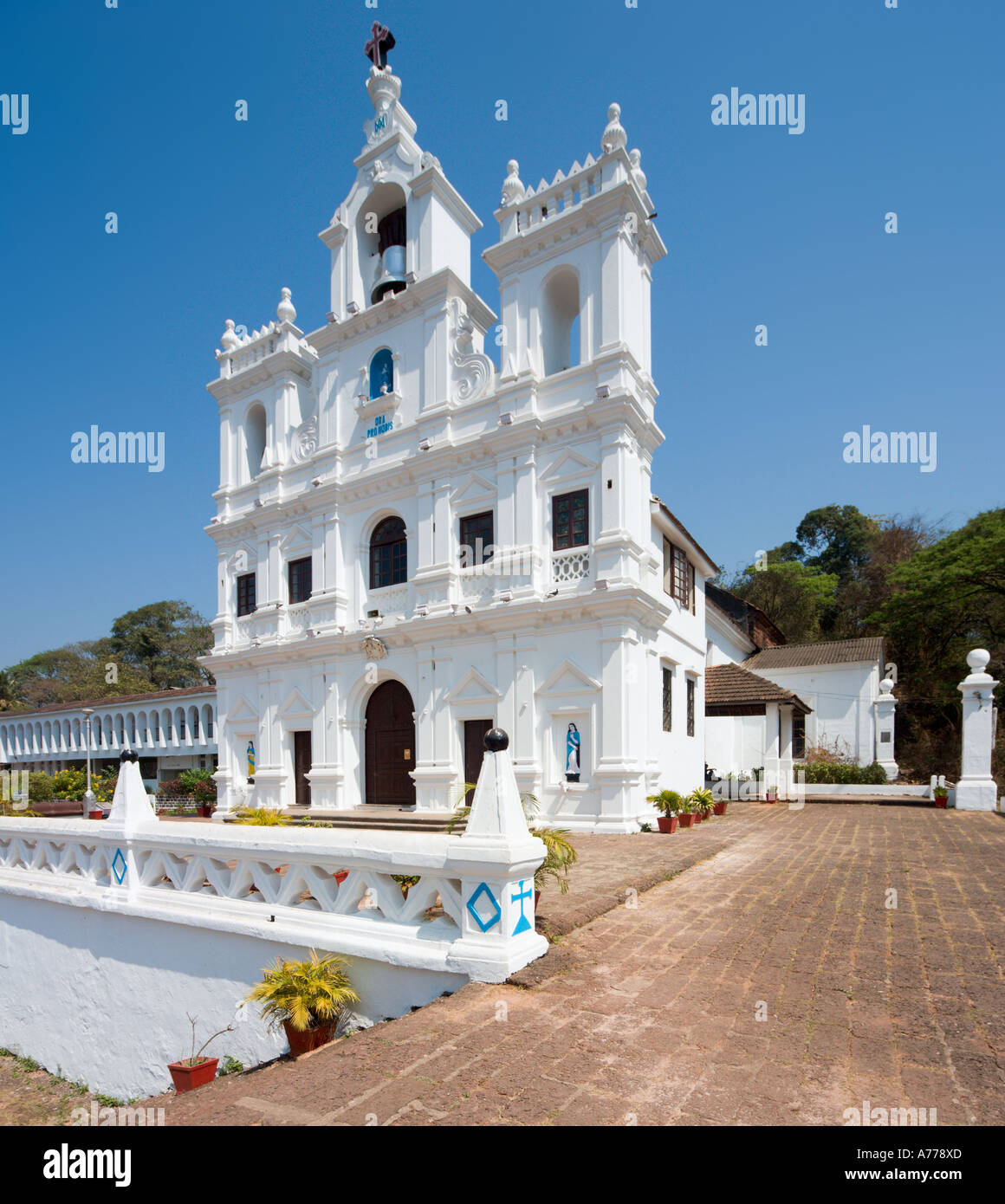 Baroque Church of Our Lady of the Immaculate Conception, Panaji or Panjim ( the Goan capital city), Goa, India - Stock Image
