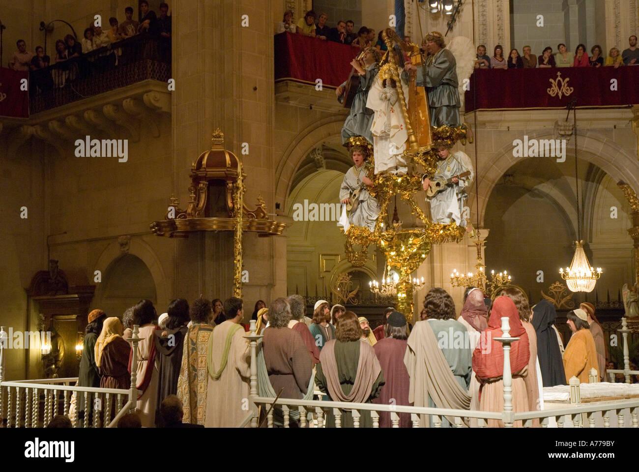 The Elche Mystery Play Santa Maria Basilica ELCHE Alicante province Valencia Autonomous Community Spain - Stock Image