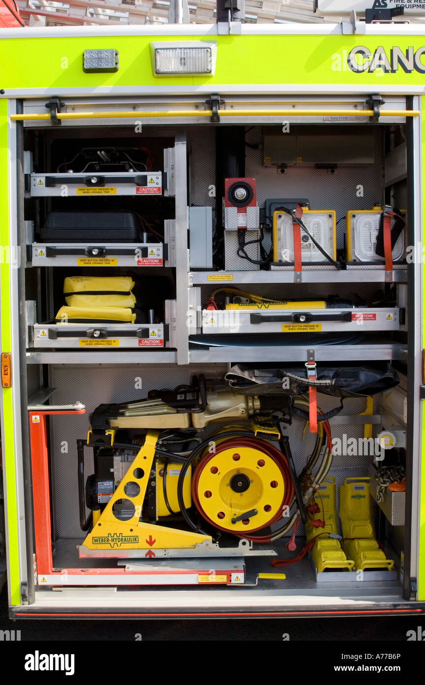 Mid And West Wales Fire Service Emergency Rescue Equipment On Tender Electrical Wiring Truck 999 Services
