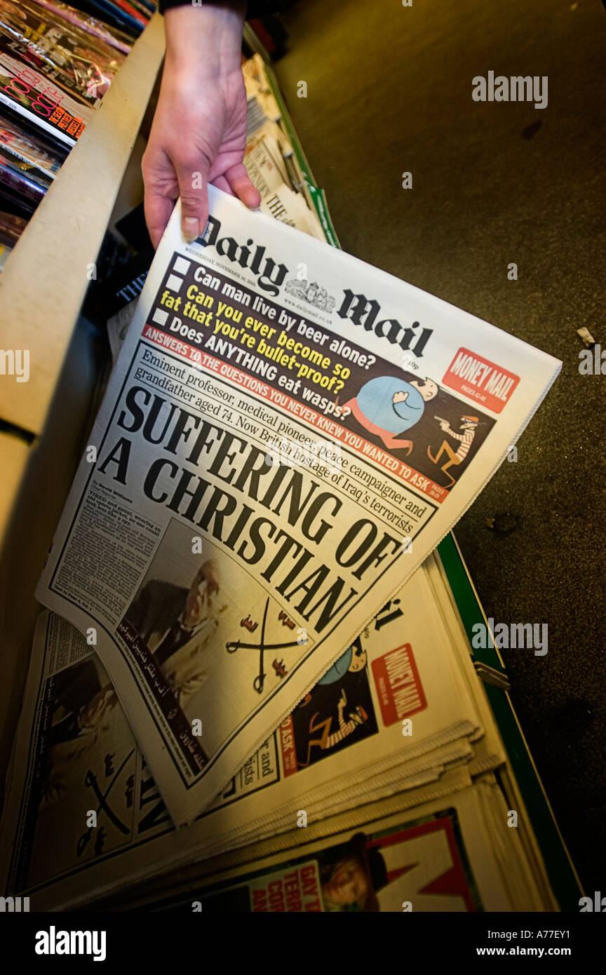 Daily Mail British Newspaper Stock Photo