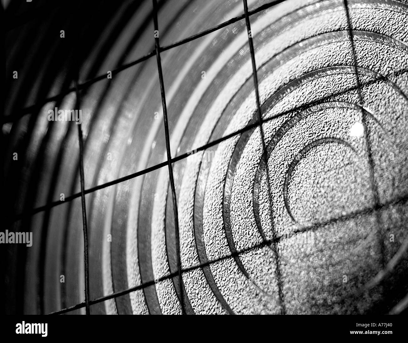 close up of a Fresnel Lamp - Stock Image