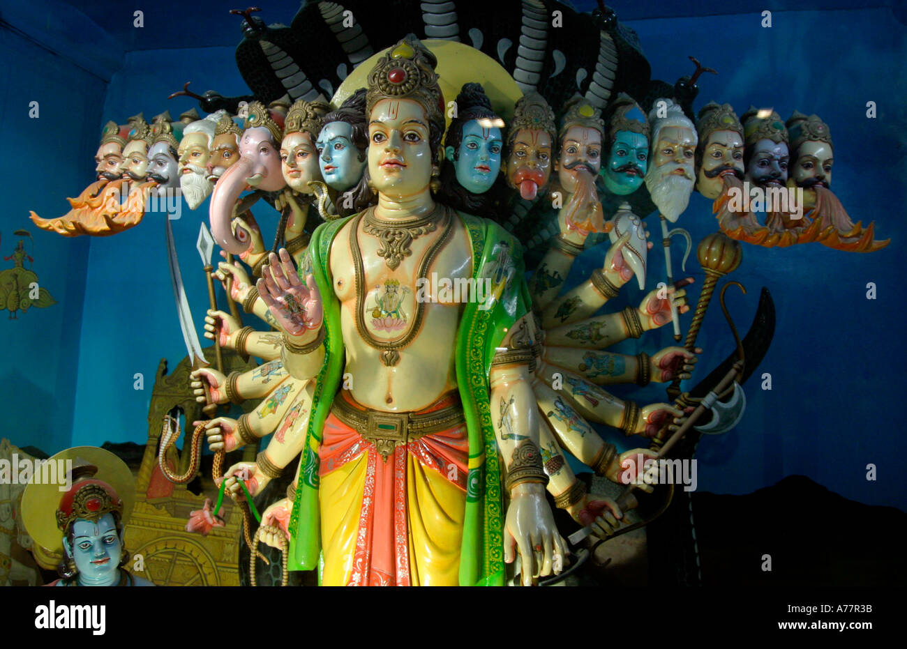 indian statue of hindu gods - Stock Image