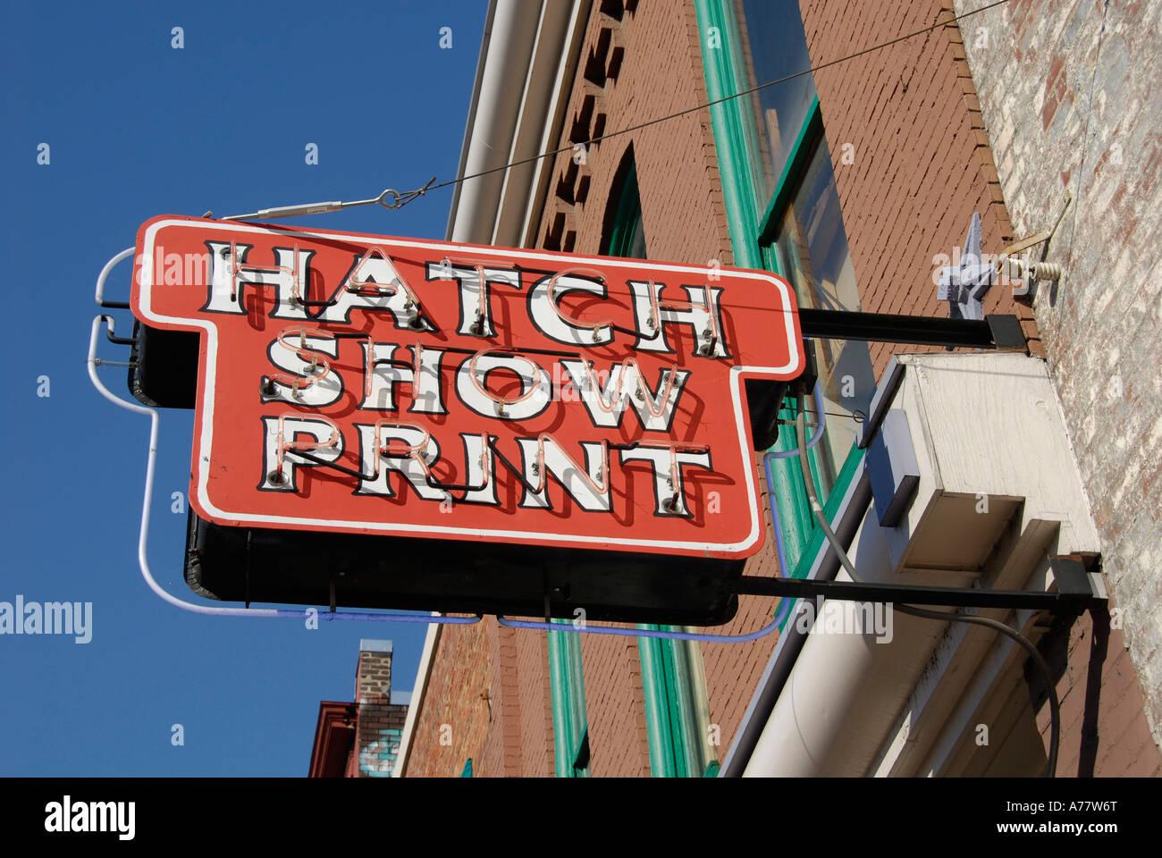 Hatch Show Print Stock Photos & Hatch Show Print Stock Images - Alamy