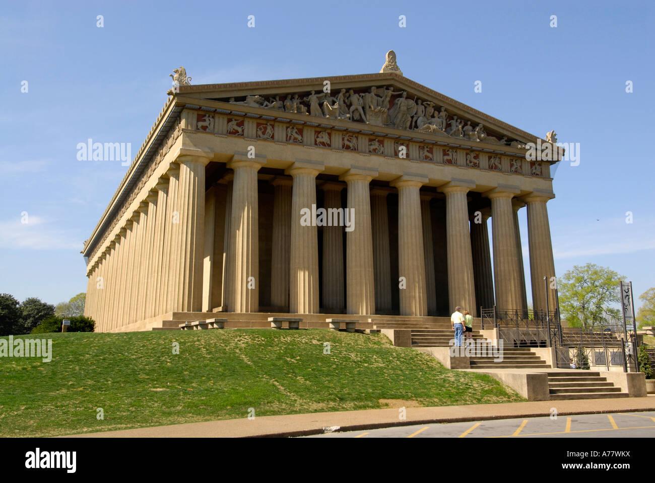 The Parthenon in Centennial Park Nashville Tennessee TN Tenn US USA ...