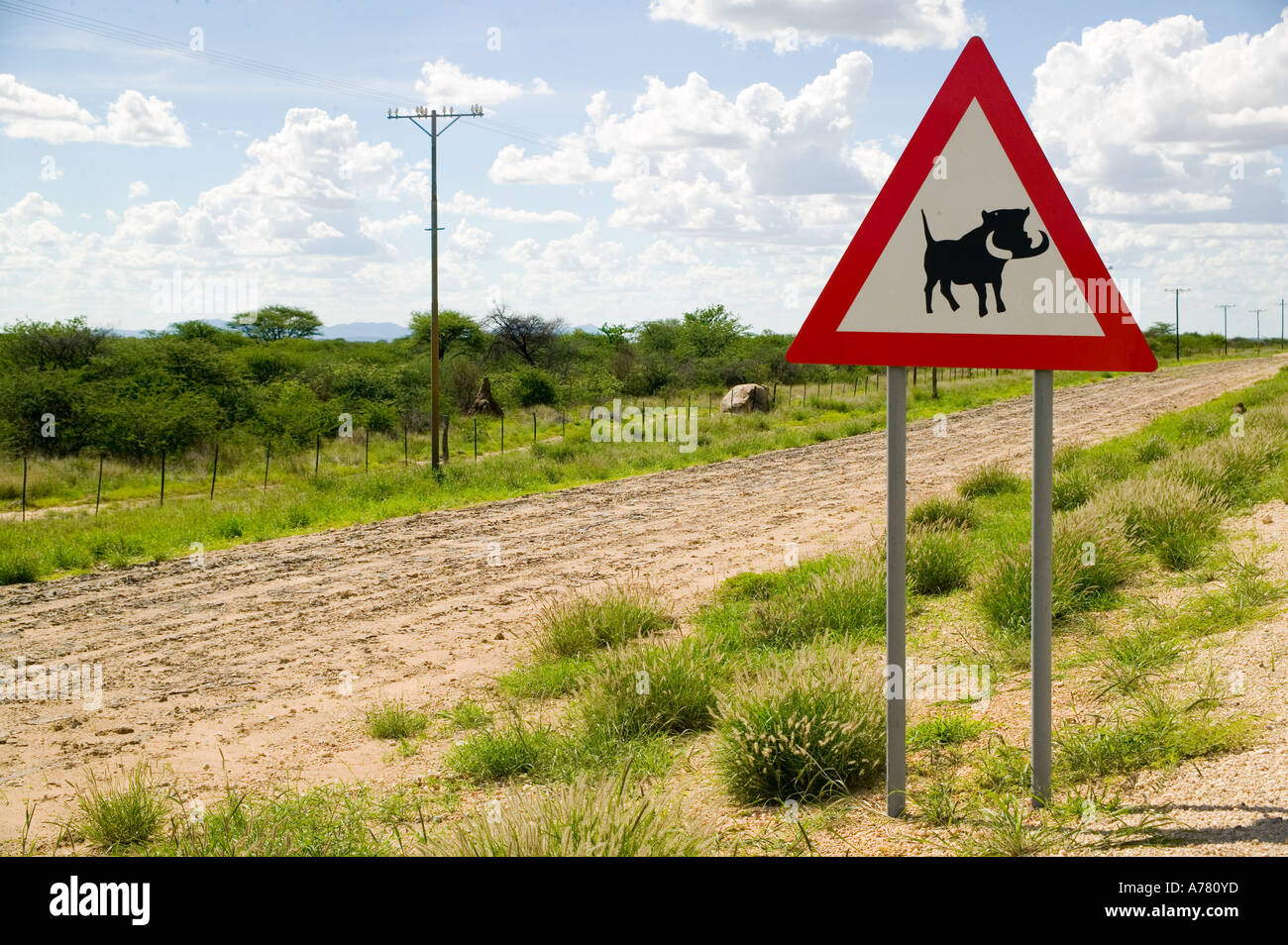 Funny road signs in Africa - Stock Image