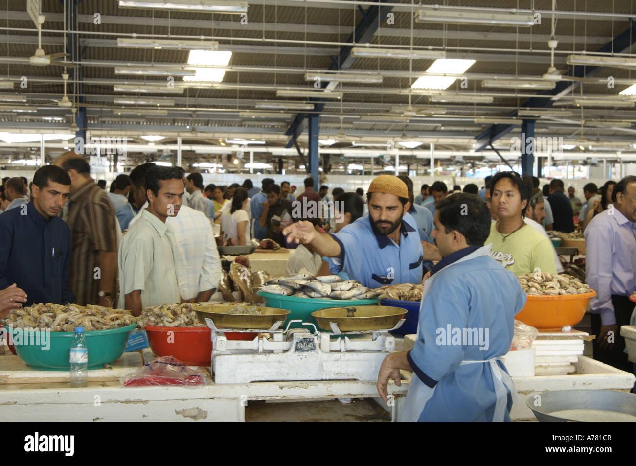 busy fish market deira dubai Stock Photo: 11754214 - Alamy