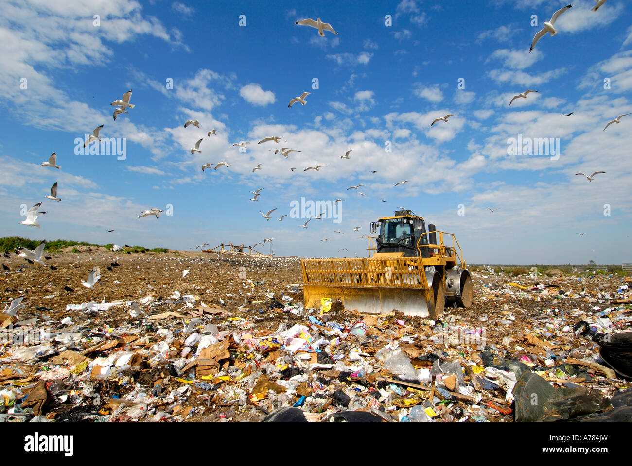 Reduce Reuse Recycle Landfill Stock Photo