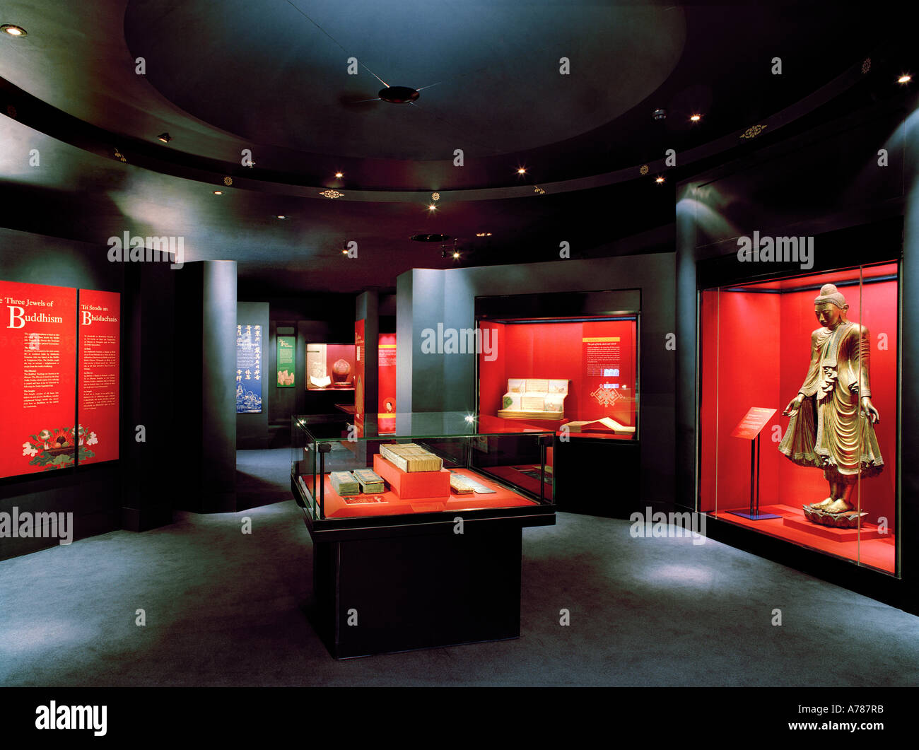 The Eastern Religions section of the main display at the Chester Beatty Library, Dublin, Ireland - Stock Image