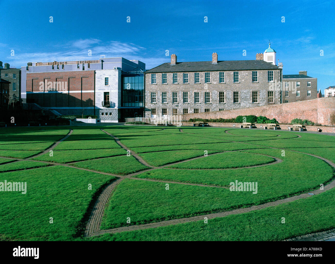 The Chester Beatty Library, in the grounds of Dublin Castle, Ireland - Stock Image