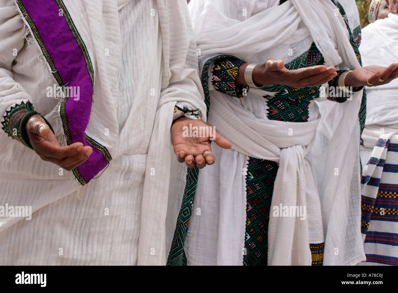 Israel Jerusalem Israel Jerusalem A prayer at the Jewish Ethiopian annual Sigd festival - Stock Image