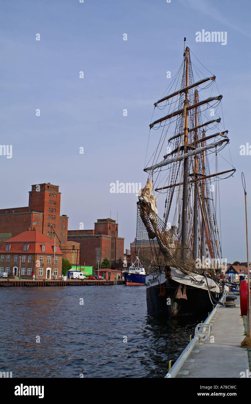 harbor wismar - Stock Image
