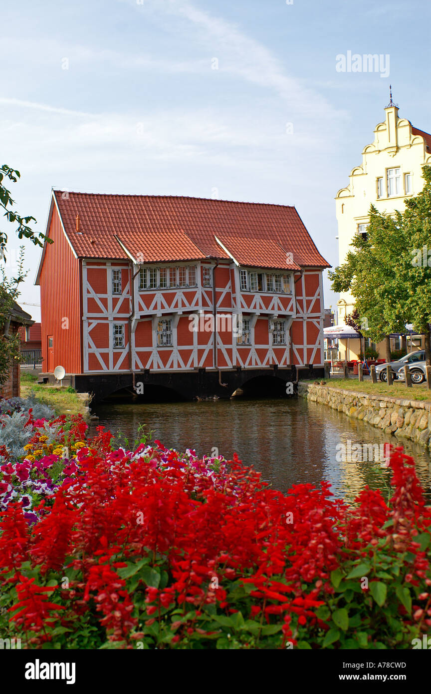half timbered house in Wismar - Stock Image