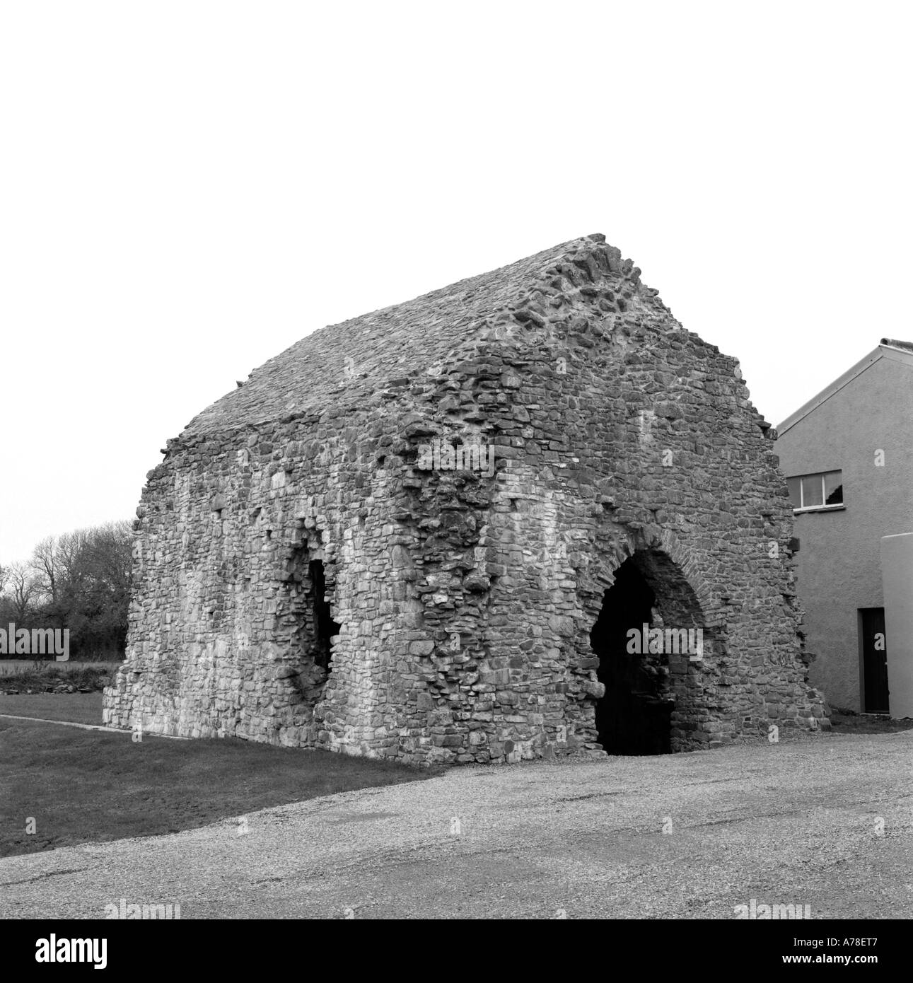 Pilgrim shelter and early hospital structure with a stone roof near Narberth, Pembrokeshire, Wales, UK  KATHY DEWITT - Stock Image