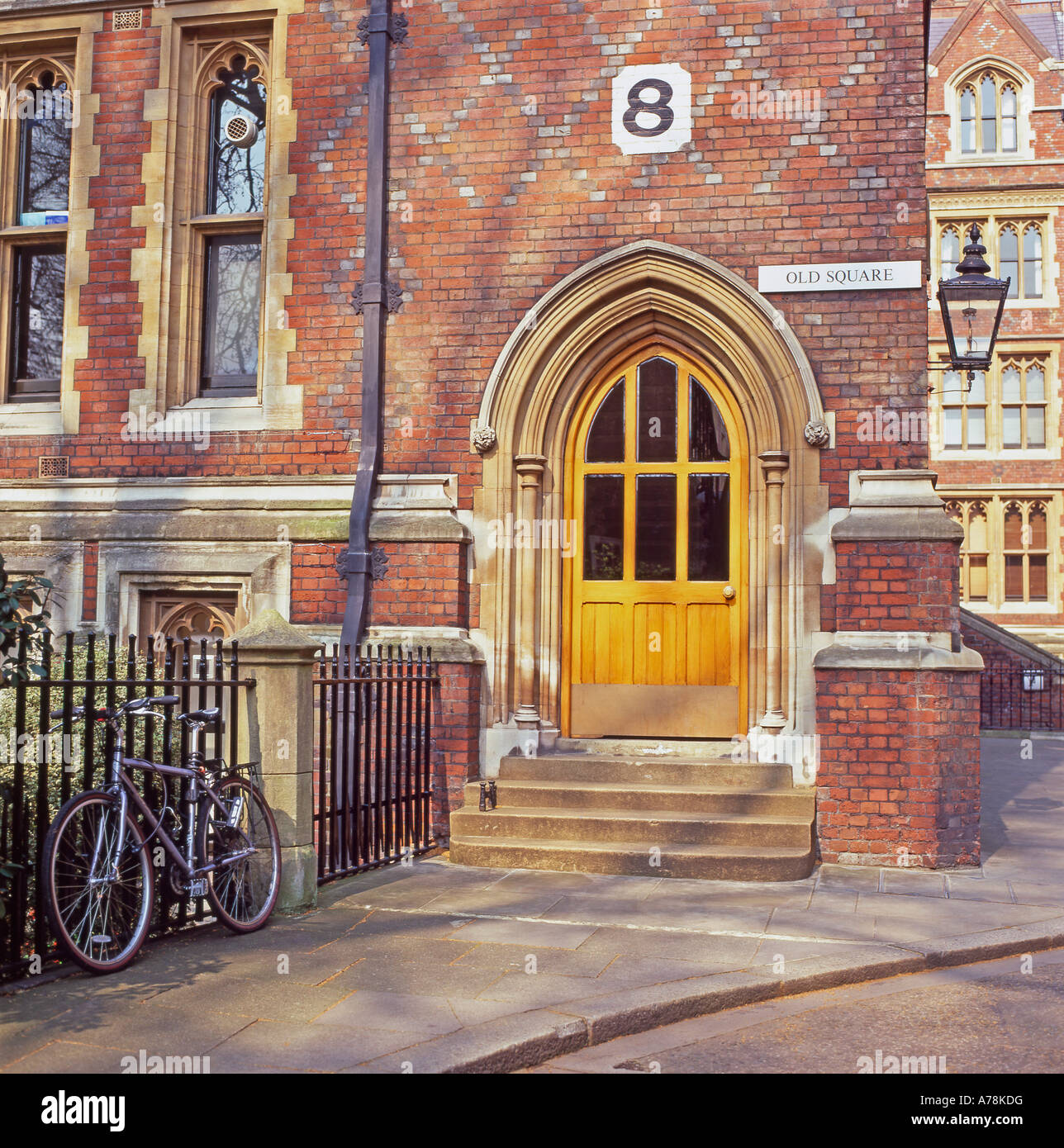 Door and entrance on building at 8 Old Square BUILDING exterior at Old Buildings Lincolns Inn, Inns of Court, London - Stock Image