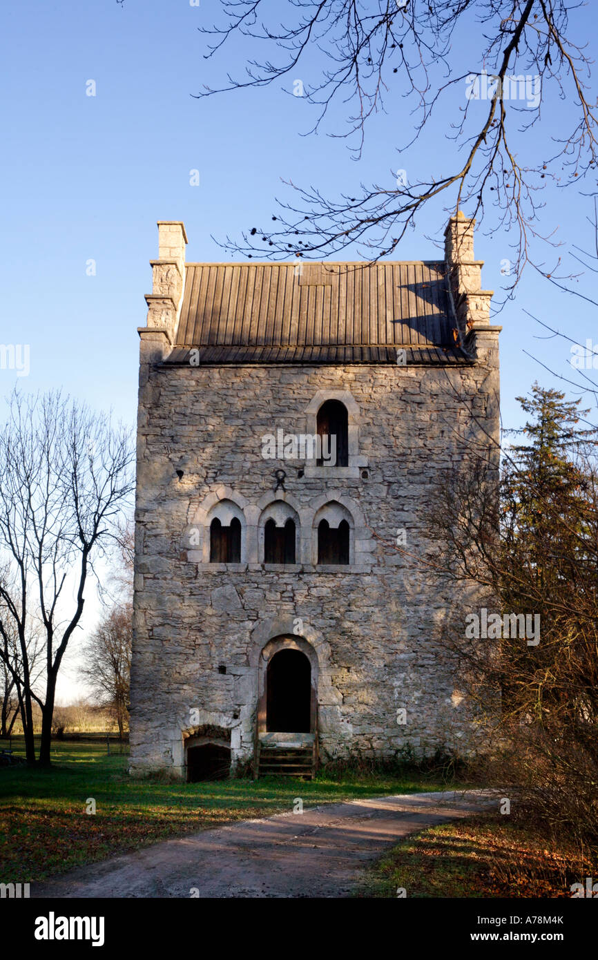 One of Gotlands best preserved medieval stone houses from 1300s - Stock Image