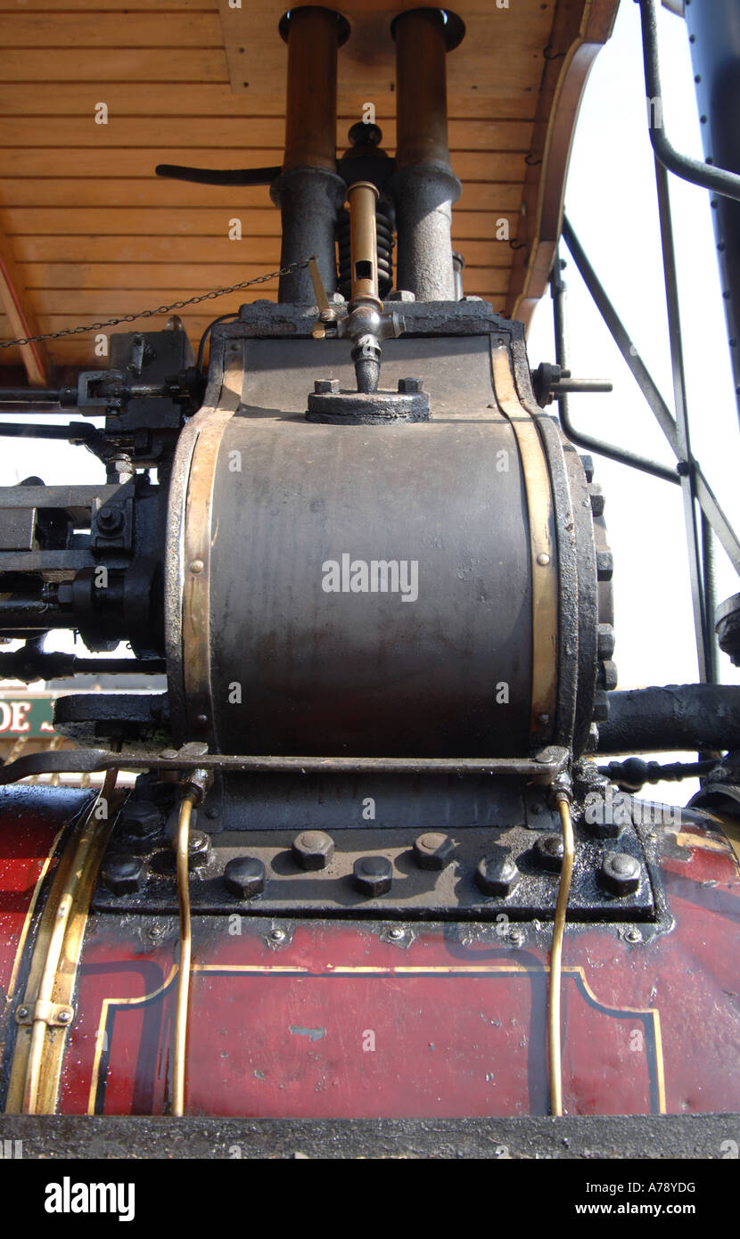 boiler and funnel detail of steam traction engine Stock Photo ...