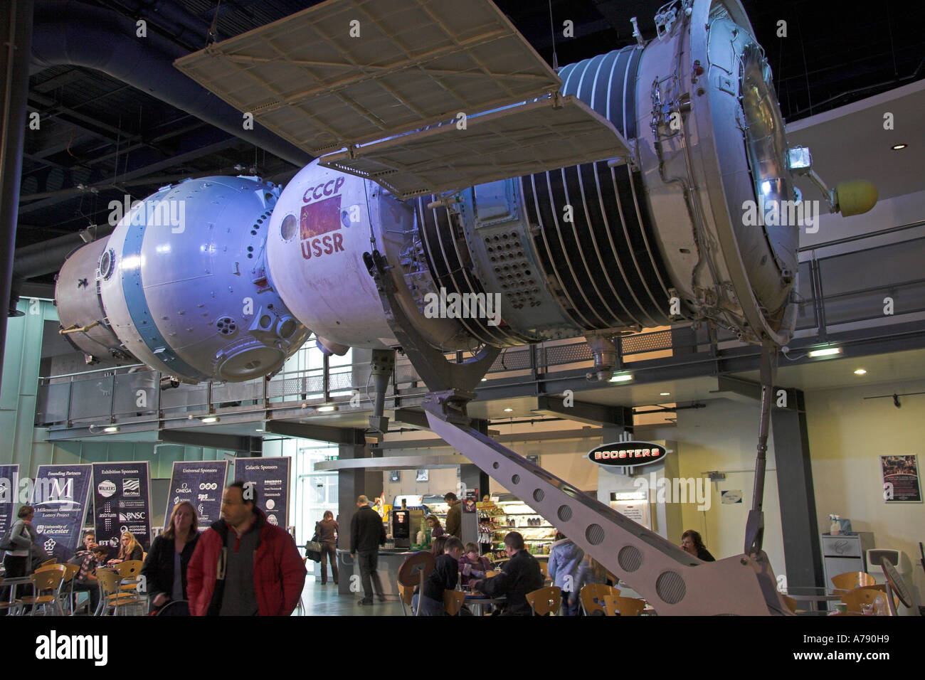 Russian Soyuz spacecraft, National Space Centre, Abbey Meadows, Leicester, Leicestershire, England - Stock Image