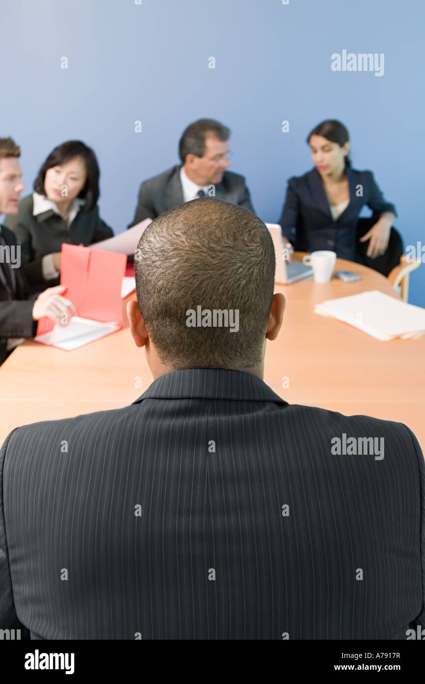 Colleagues in a meeting - Stock Image