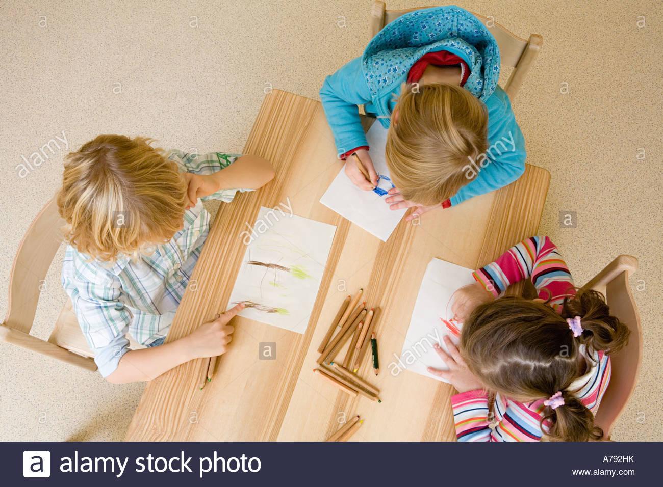 Children drawing - Stock Image