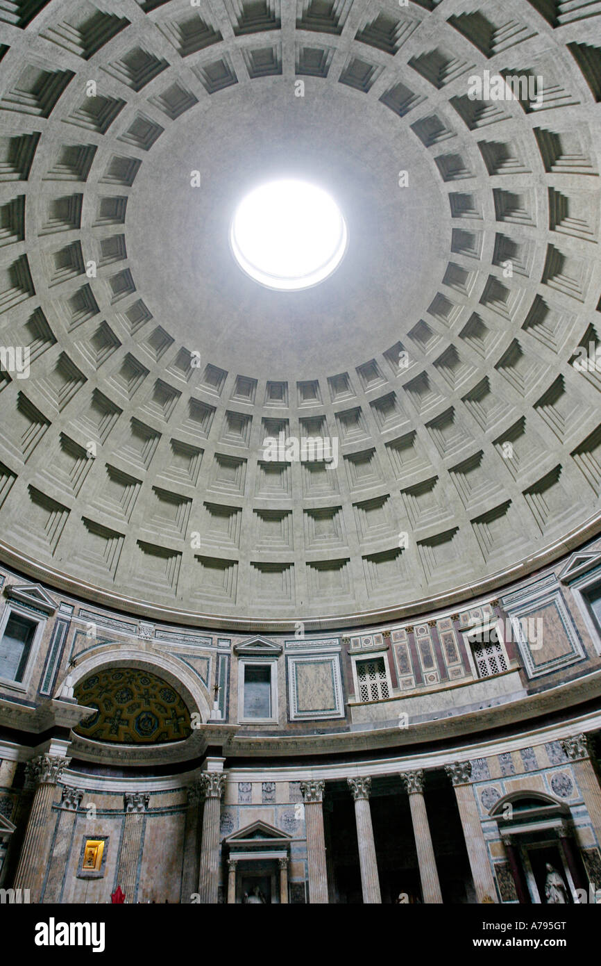 Dome Of The Pantheon Basilica Santa Maria Ad Martyres Rome