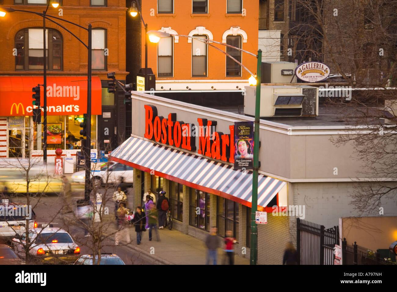 Chicago Illinois Boston Market And Mcdonalds Restaurants On