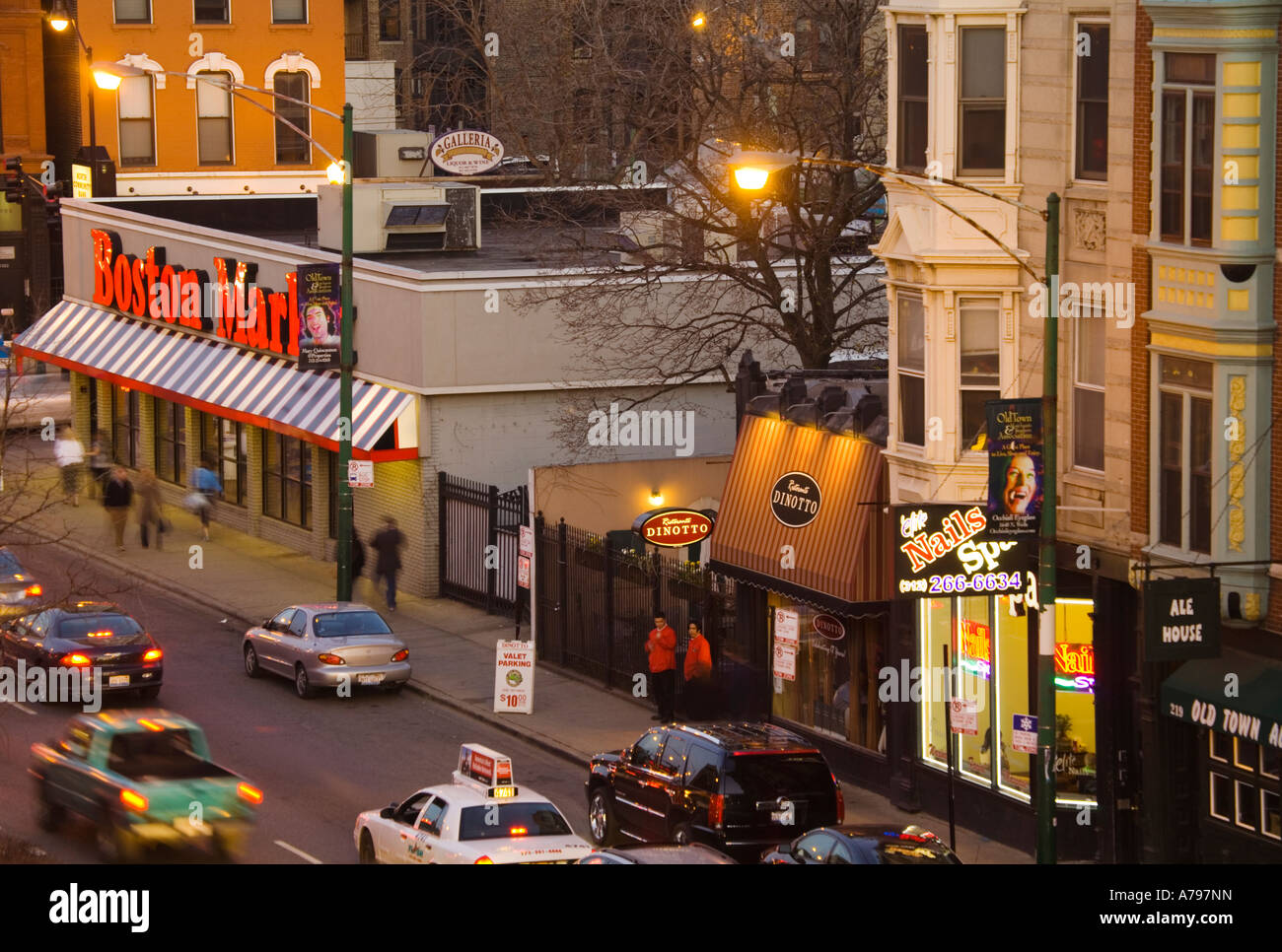 Chicago Illinois Restaurants Stores And Businesses On North