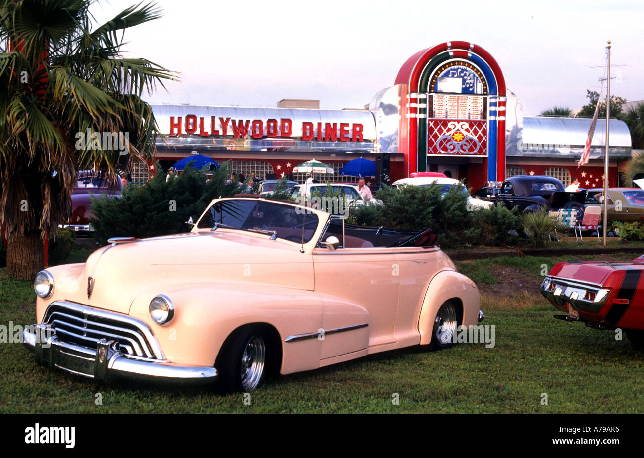 Classic Car Hollywood Diner Orlando Florida old timers Stock