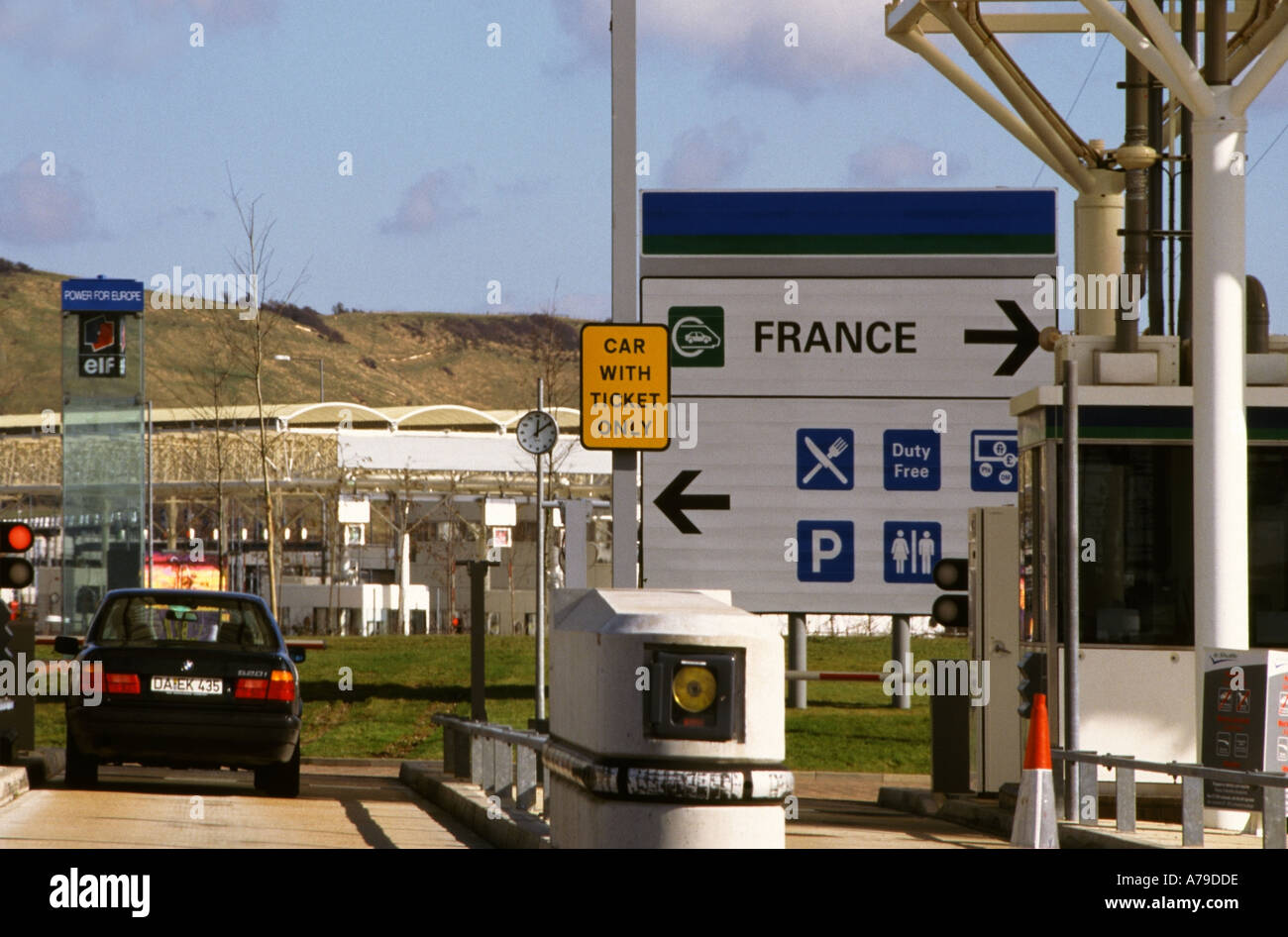England Channel Tunnel Eurotunnel Terminal Folkestone Kent Check In