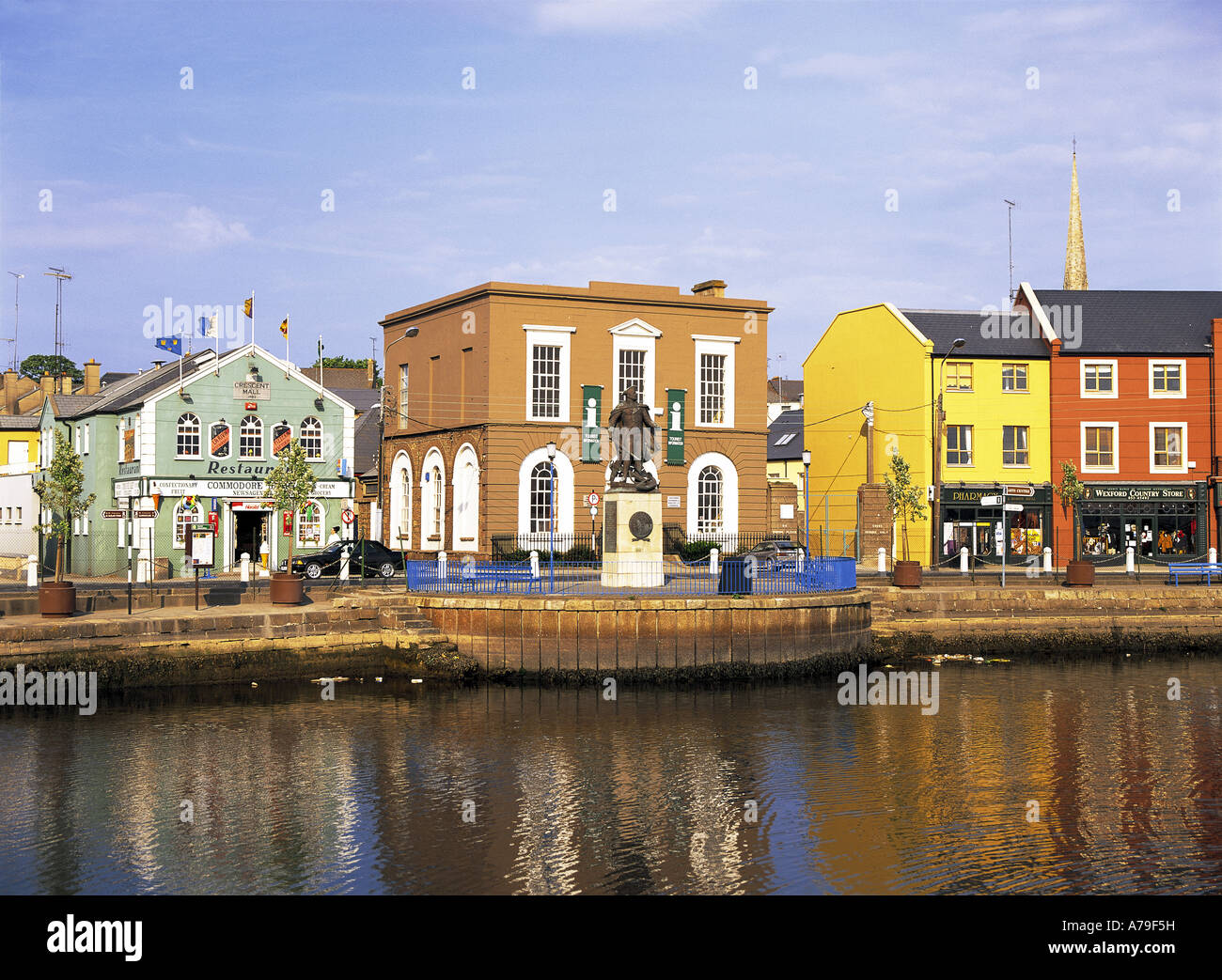 Wexford Town and harbour Ireland - Stock Image